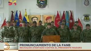 Pronunciamiento completo del Alto Mando Militar tras atentado contra Nicolás Maduro, 5 agosto 2018