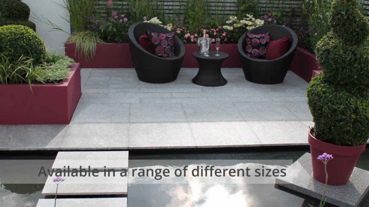 Granite Paving   Nustone Natural Stone Calibrated Granite Patio Paving Slabs  Footpath Pavers   YouTube