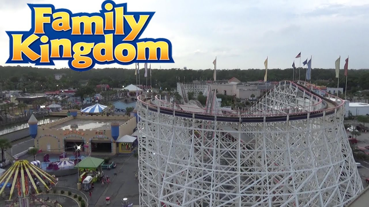 Family Kingdom Myrtle Beach Amut Park Tour Review With The Legend