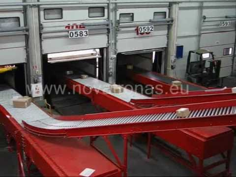 Parcel sorting line for courier services