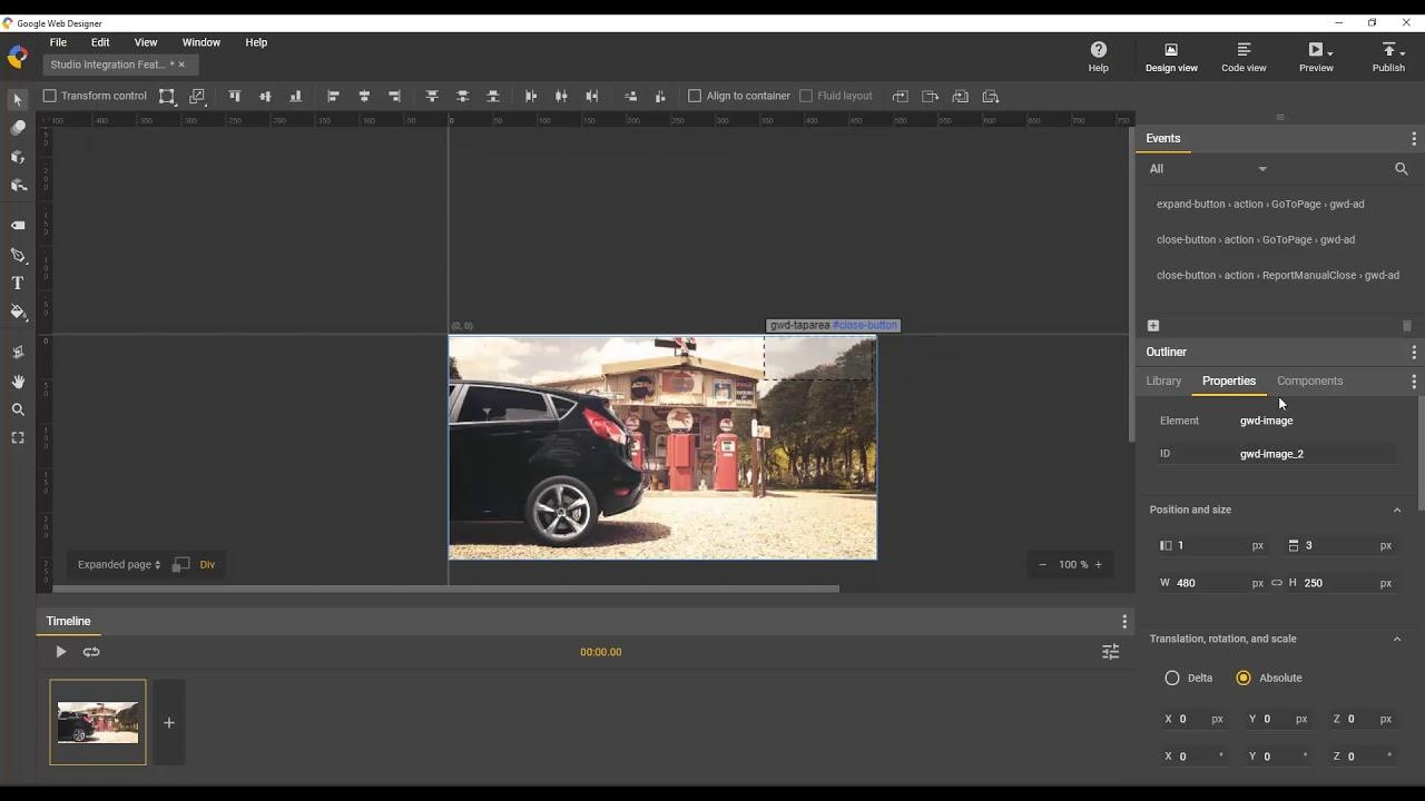 Building Expanding Creatives Google Web Designer Youtube