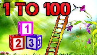 Learn To Count 1 to 100 with Climbing Tree | 123 Numbers Song For Children | 3D Kids Nursery Rhymes