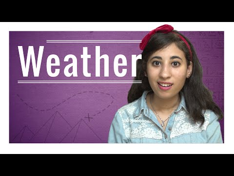 Weekly Egyptian Arabic Words with Peryhan - Weather
