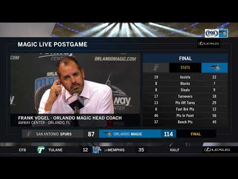 Frank Vogel -- Orlando Magic vs. San Antonio Spurs 10/27/2017