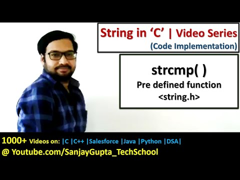 How To Use Strcmp( ) And Strcmpi( ) Pre Defined Function Of String.h In C Programming Language