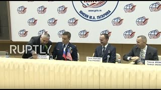 Expedition 51 52 ISS crew holds pre flight press conference