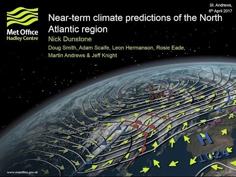 Skilful predictions of the winter North Atlantic Oscillation: Dr Nick Dunstone (Met Office)