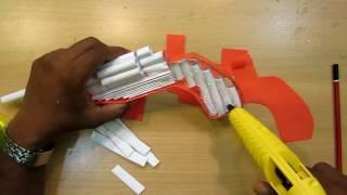 Cara membuat pistol revolver dari kertas ( +Peluru kertas)