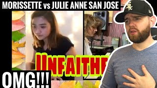 [American Ghostwriter] Reacts to: Unfaithful (cover by) Morissette Amon Vs. Julie Anne San Jose