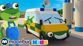 Amber Ambulance Song | Gecko's Garage | Learning For Toddlers | Construction Vehicles For Kids