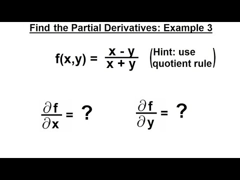 how to find second partial derivatives