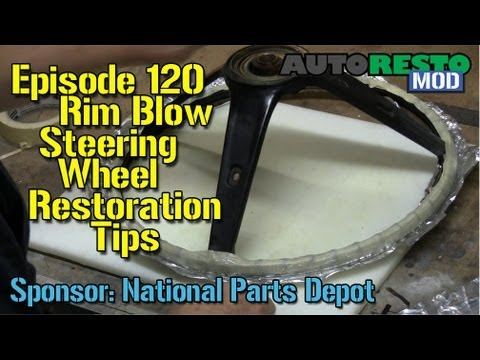 More Steering Wheel and Rim Blow Restoration Tips Autorestomod Episode 120