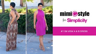 Mimi G Style For Simplicity, Pattern 1159 Tutorial. Halter Dress.