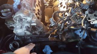 Mercedes (S class, CLS etc...) OM642 V6 engine CDI oil leak from the oil cooler.