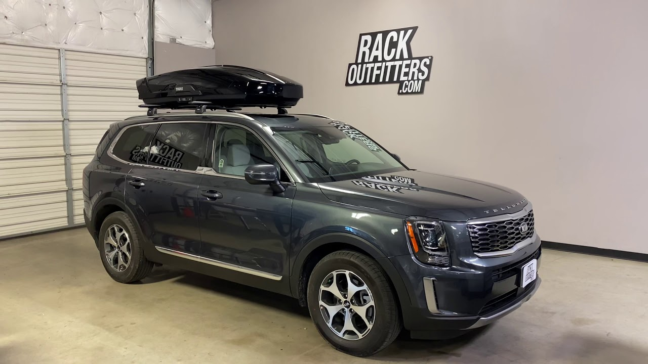 2020 kia telluride with thule motion xt xl roof top cargo box