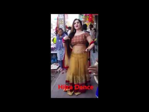 Indian Hijra(Kinner) Dance On Road | Long Hair | Beautiful | Transgender Tradition