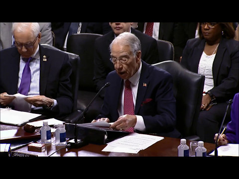 Grassley discusses Comey and Russia Investigation at Executive Business Meeting