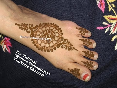 Beautiful Circular Mandala Henna Tattoo Art Designs For Feet Tutorial Best Feet Mehndi Designs 2017