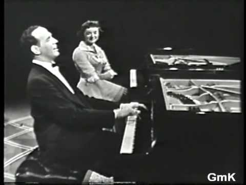 GISELE MacKENZIE & Roger Williams - piano duet - Slaughter on Tenth Avenue - 1958