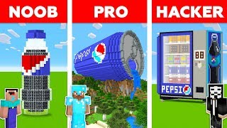 Minecraft NOOB vs PRO vs HACKER: PEPSI BUILD CHALLENGE in Minecraft / Animation