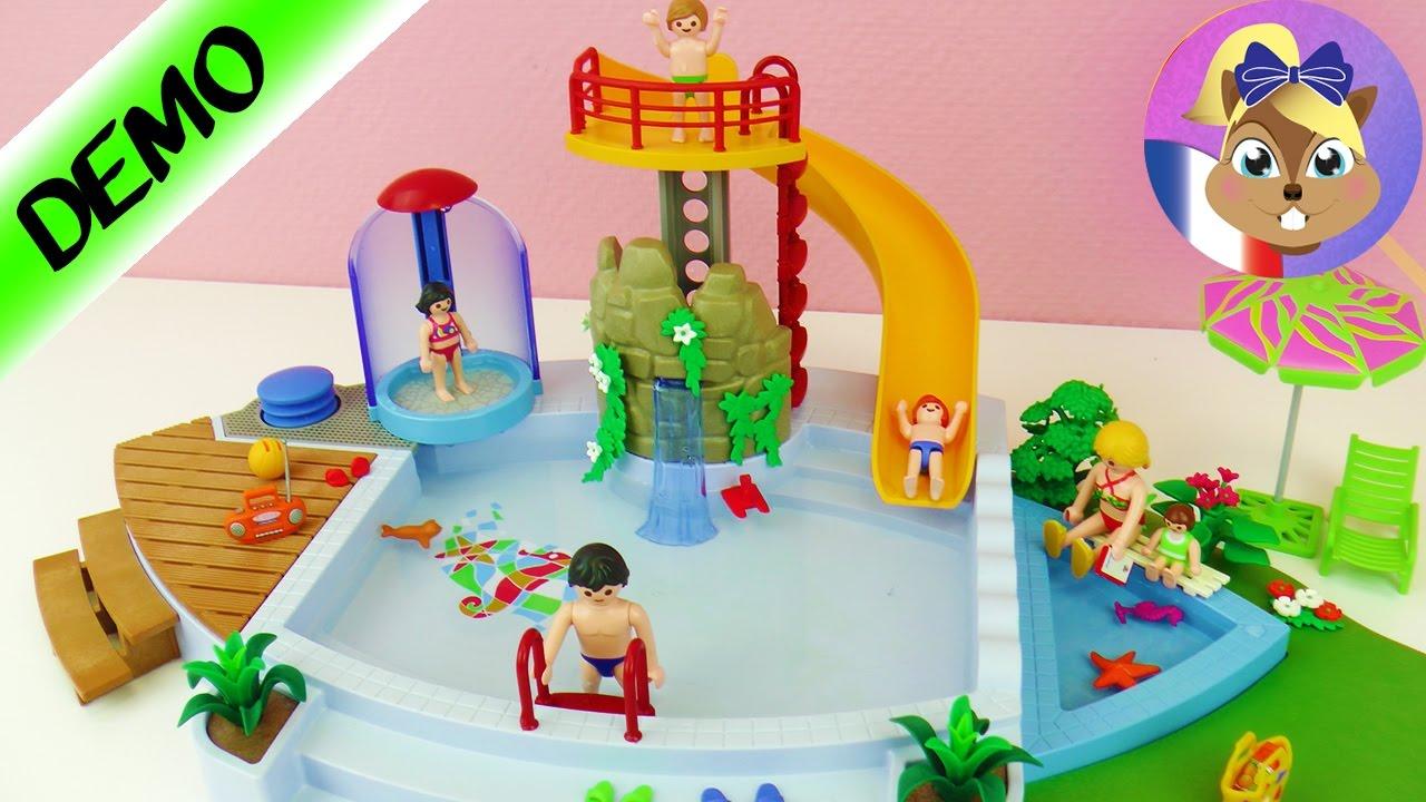 Grande piscine avec toboggan playmobil d mo avec for Playmobil piscine toboggan