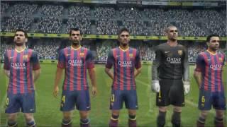 Barcelona VS Real Madrid PES 2013 GAMEPLAY - PC