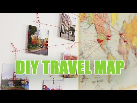 travel map diy carte du monde d corative avec vos photos avec youmakefashion youtube. Black Bedroom Furniture Sets. Home Design Ideas