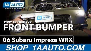 How to Replace Install Front Bumper 06 Subaru Impreza WRX