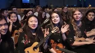 The Langley Ukulele Ensemble at NAMM 2020
