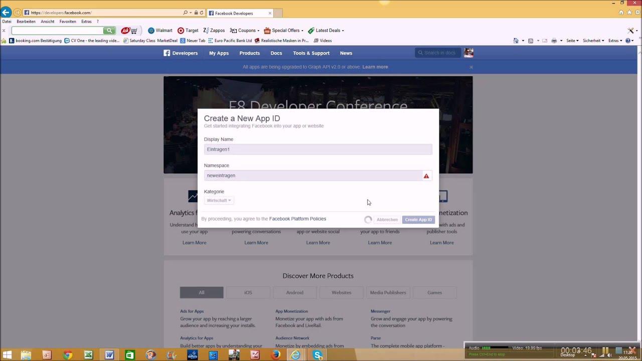 app erstellen mit facebook