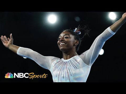 Simone Biles debuts historic new move and wins first competition of 2021   NBC Sports