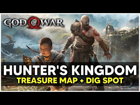 God Of War - Hunter's Kingdom Treasure Map + Dig Spot Locations