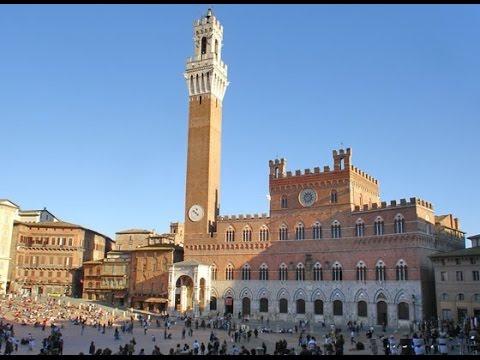SIENA ( Tuscany - Italy ) - Piazza del Campo - il Palio - Vista Panoramica dalla Torre del Mangia -