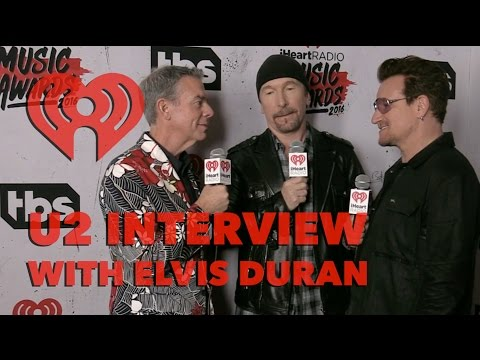 U2 Interview w/ Elvis Duran at the 2016 iHeartRadio Music Awards | Exclusive