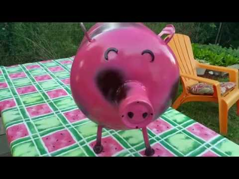 Diy scrap metal pig