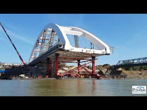 Espectacular empuje del puente #Zezelj (Serbia)