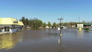 Saginaw Michigan Flood 5-20-20 M46 & River Rd, Shields and State St bridge.