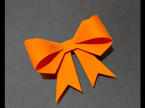Paper bow / ribbon. Ideas for decor. Origami bow for gift box decoration.