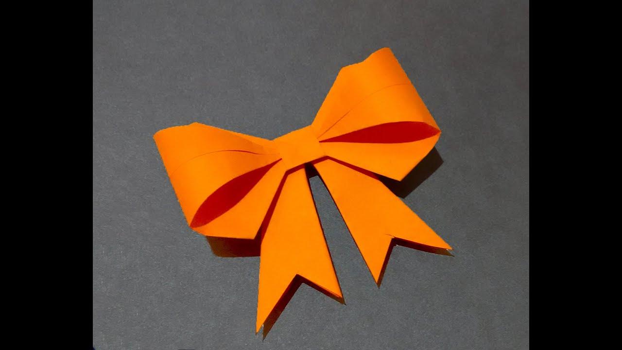 Paper Bow Ribbon Ideas For Decor Origami Gift Box Decoration