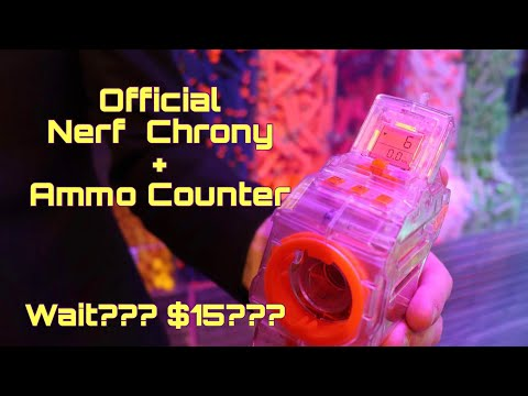 First Review: Nerf's Genuine Chronograph + Ammo Counter For Only $15!!!