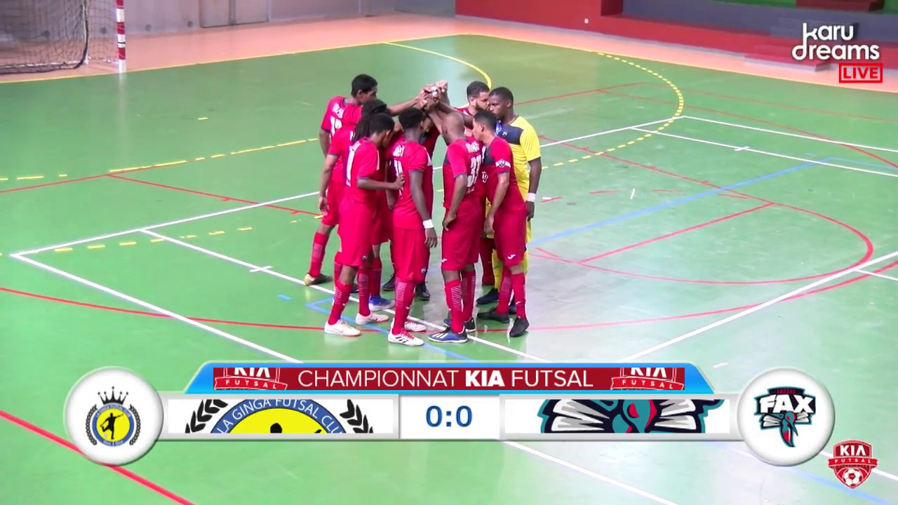 4e Journée Kia Futsal Guadeloupe : La Ginga vs Fax Vendredi 1er Novembre 2019