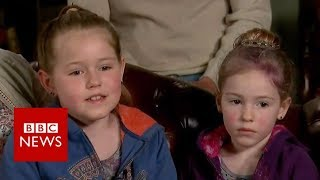How lost sisters survived in woodland - BBC News
