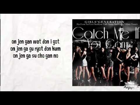 Girls Generation - Catch Me If You Can Lyrics (easy lyrics) - YouTube