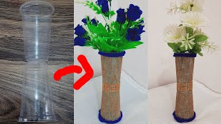 How to make fl๐wer vase from disposable glass / diy ideas / Reuse of disposable plastic glasses