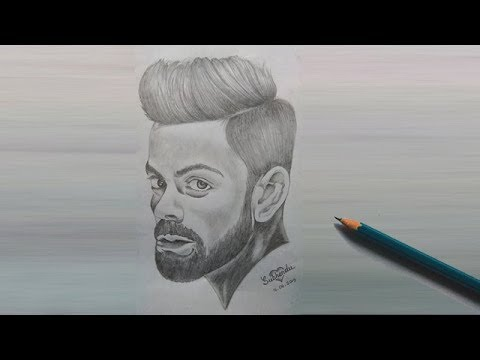 virat-kholi-drawing-step-by-step-//how-to-draw-virat-kholi-step-by-step