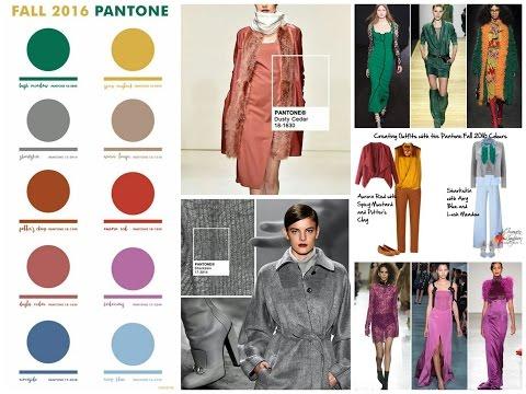 Fall/Winter 2016-2017 Color Trends - Top 10 Pantone Colors