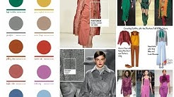 Fall/Winter 2016-2017 Color Trends - Top 10 Pantone Colors