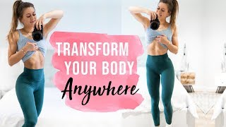 AT HOME WORKOUT GUIDE! || LOSE FAT, GET STRONGER + FITTER ANYWHERE!