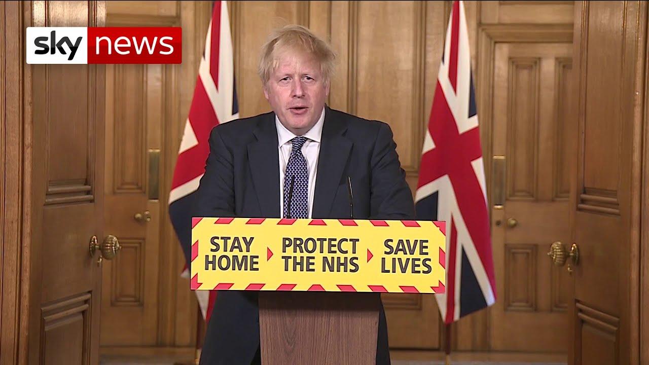 Prime Minister Boris Johnson thanks NHS for 'getting me back here'