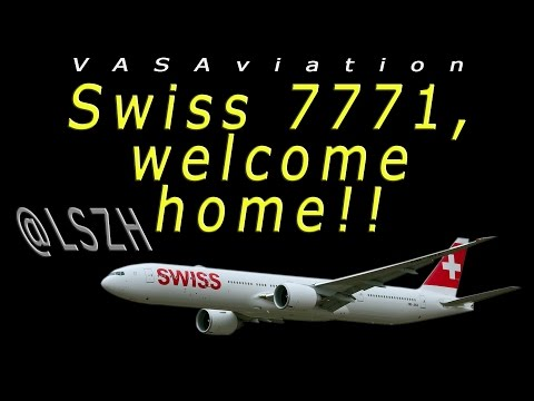 [FUNNY ATC] First SWISS B777 delivery flight at ZURICH!!